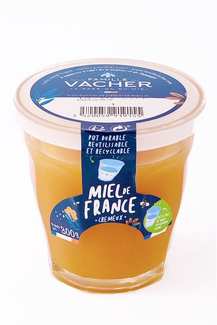 Famille Vacher lance son Miel de France conditionné en verre Duralex