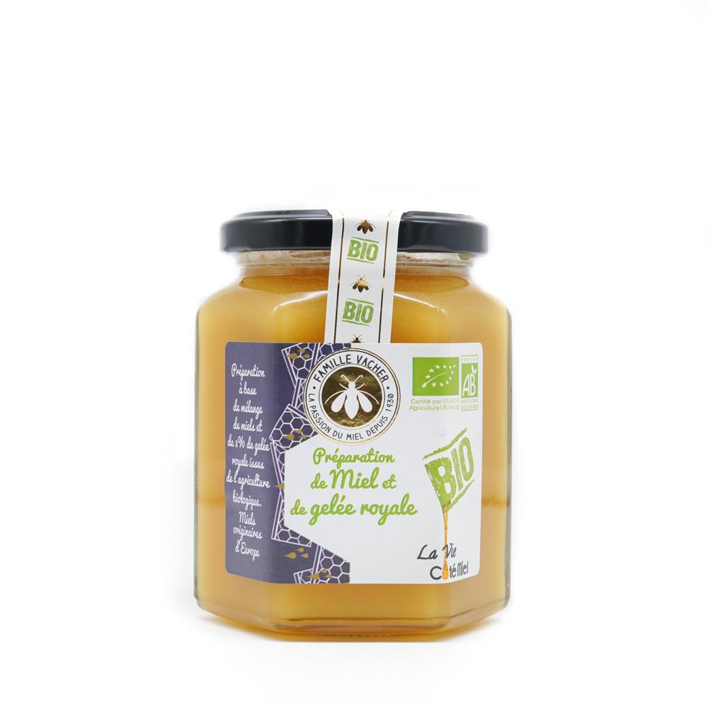 Préparation de miel et gelée royale bio 375g