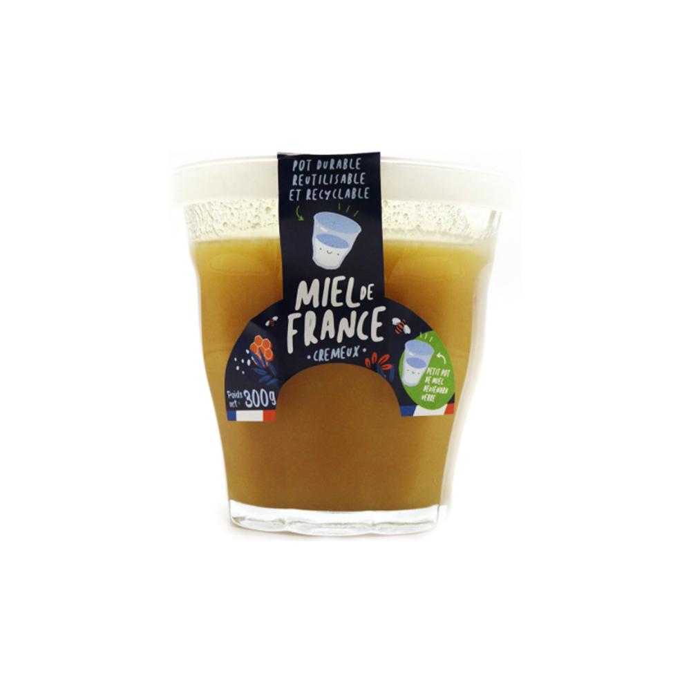 Miel de France crémeux 300g - Pot réutilisable